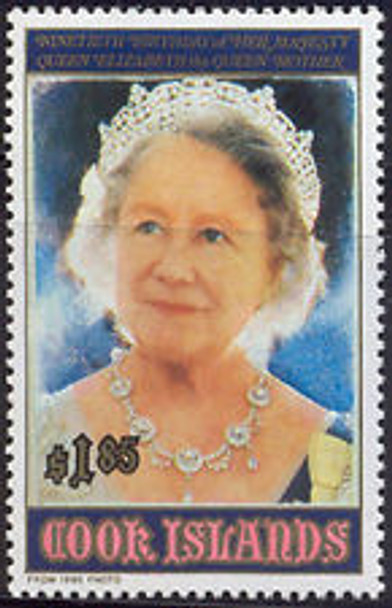 COOK ISLAND (1990) Queen Elizabeth 90th Birthday (1v)