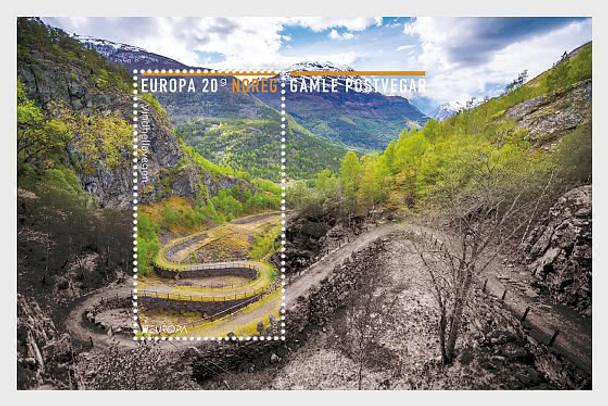 NORWAY (2020)- EUROPA- ANCIENT POSTAL ROUTES SHEET