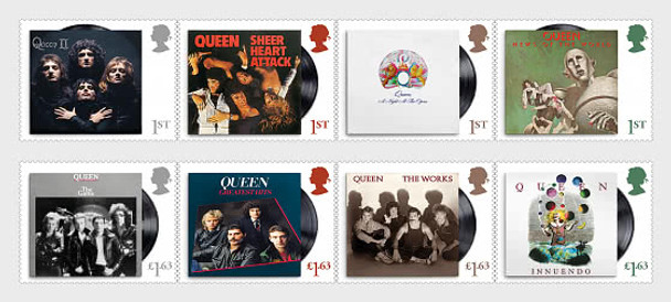 "GR. BRITIAN (2020)-  MUSIC GIANTS SERIES- ""QUEEN"" (Set of 8v & sheet)"