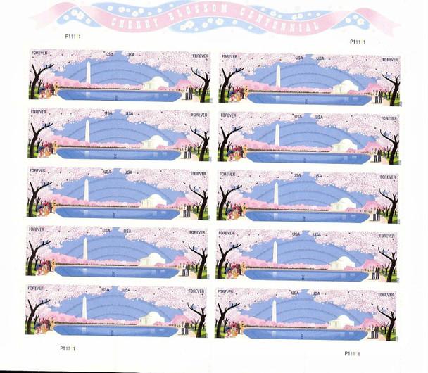 US (2012)- CHERRY BLOSSOM CENTENNIAL SHEET OF 20v (#4652A)