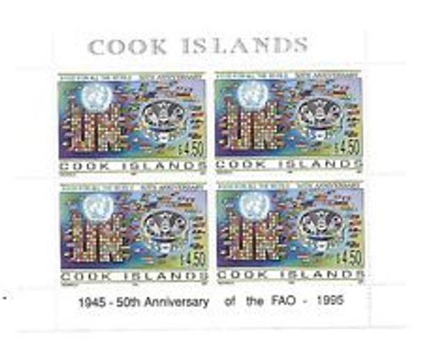 COOK ISLAND (1995) UN 50th Anniversary SHEET 4v