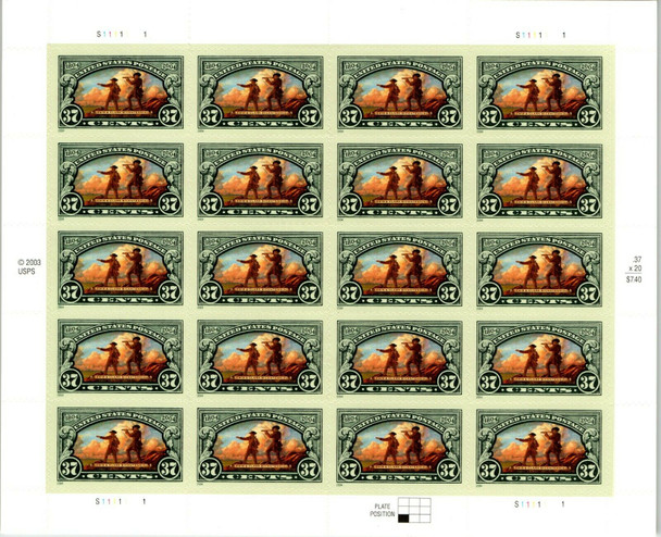 US (2004)- Lewis and Clark Sheet of 20- #3854