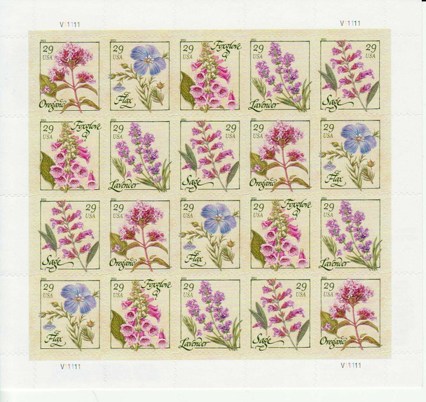 US (2011)- Herbs Sheet of 20v- #4505-9