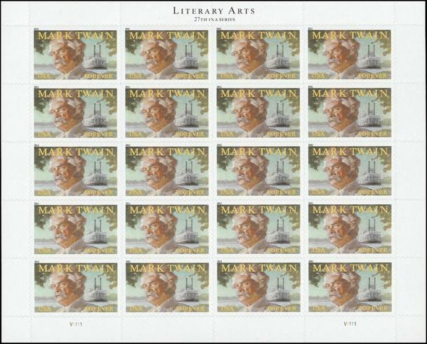 US (2011)- MARK TWAIN, AUTHOR- SHEET OF 20- #4545