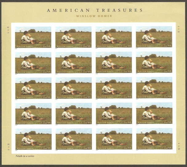US (2011)- WINSLOW HOMER (ART) SHEET #4473