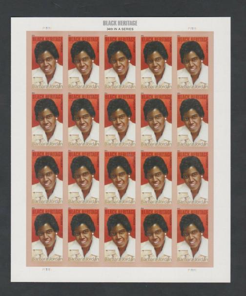 US (2011)- BARBARA JORDAN (BLACK HERITAGE) SHEET #4565