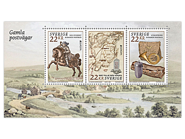 SWEDEN (2020)- ANCIENT POSTAL ROUTES (EUROPA) SHEET