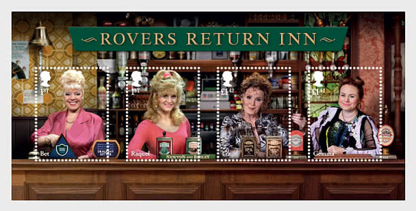 GR. BRITAIN  (2020)- Coronation Street (TV Show) Set of 8 & Sheet