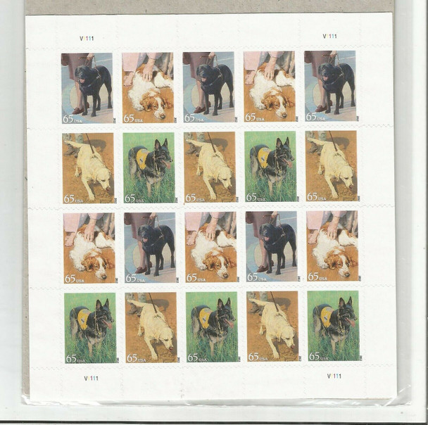 US (2012)-DOGS AT WORK SHEET OF 20 (65c)-#4604-7