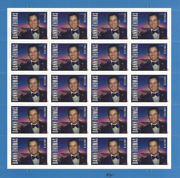 US (2012)-DANNY THOMAS (ACTOR)  SHEET OF 20 STAMPS-#4628
