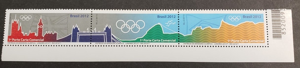 BRAZIL (2016) Olympic Flag Delivery Strip