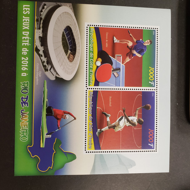 IVORY COAST (2016) Rio Olympics Sheet