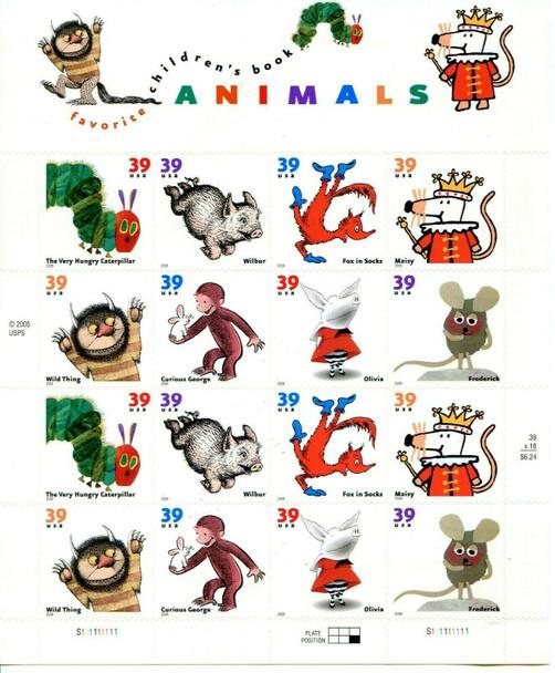 US (2006)- Children's Book Animals Sheet #3994