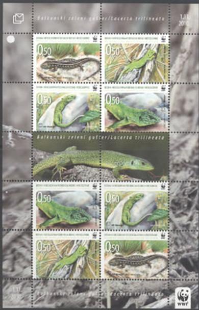 CROAT WWF Lizard- mini-sheet of 2 sets