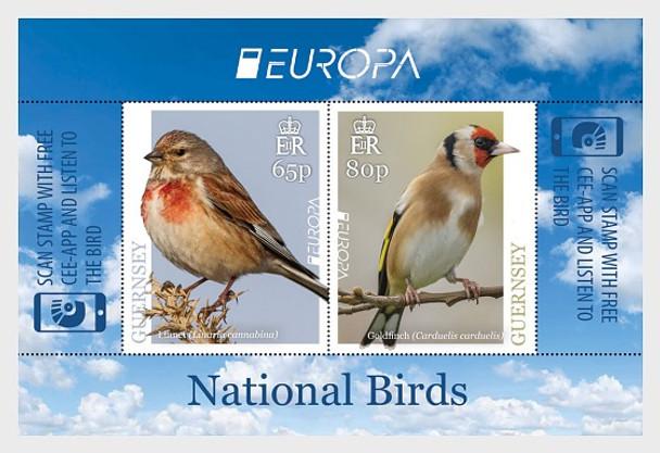 GUERNSEY (2019)- Europa Bird Sheet of 2v