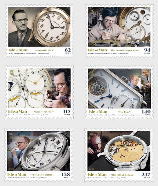 ISLE OF MAN (2020)- MASTER WATCHMAKERS (6V)