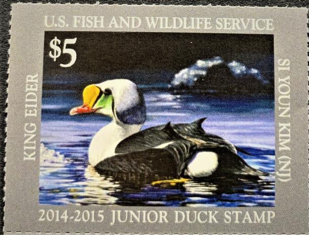 US (2014-5)- JUNIOR DUCK STAMP- KING EIDER $5- MINT