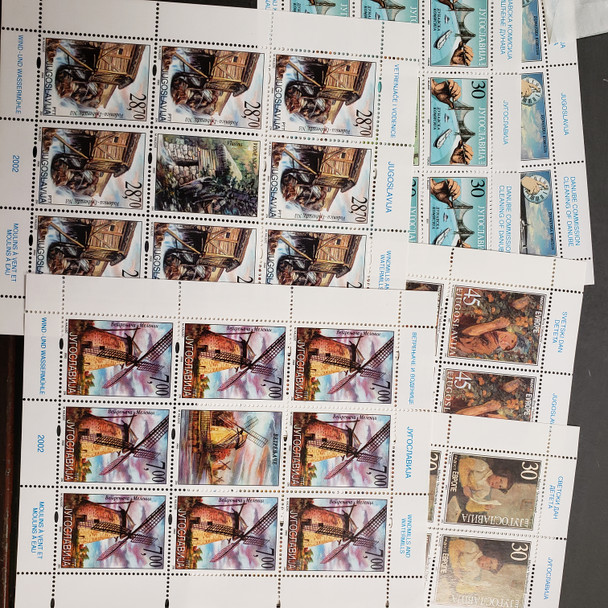 YUGOSLAVIA COLLECTION, Full Sheets Of 17 Sets 1990-2000's SCV >$650