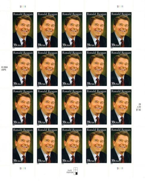 US (2005)- Ronald Reagan Sheet of 20 (39c) #4078