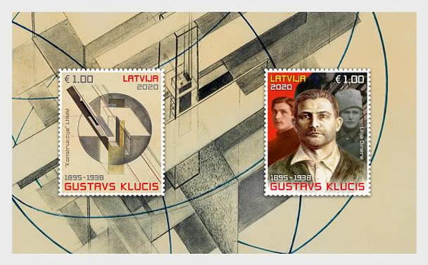 LATVIA (2020)- Artist Gustavs Klucis Souvenir Sheet