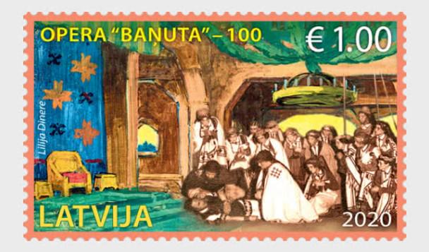 LATVIA (2020)- Anniversary of First Latvian Opera