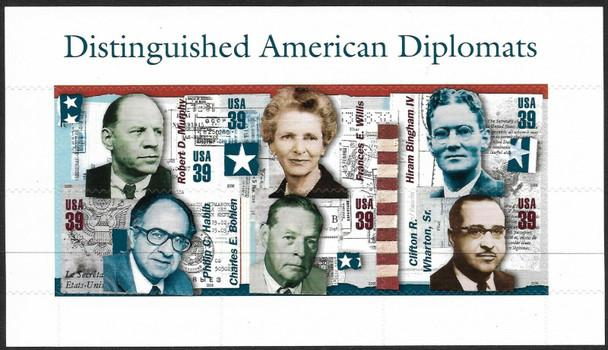 US (2006)- Distinguished Diplomats Sheet of 6v - SC #4076