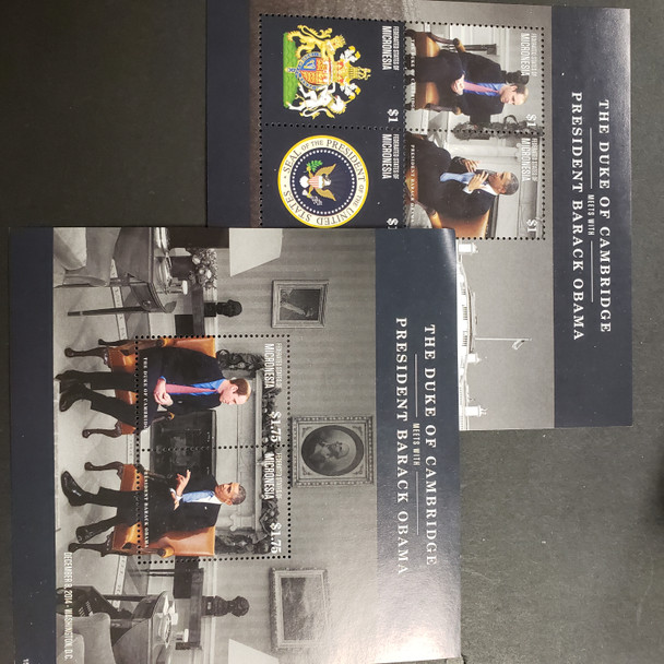 MICRONESIA (2017) Duke of Cambridge and  President Obama Sheet and SS