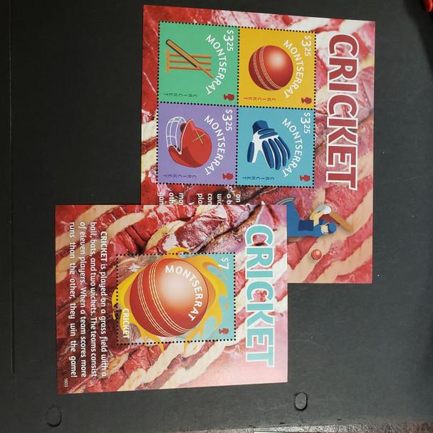 MONTSERRAT (2017) Sports , Cricket Sheet and SS