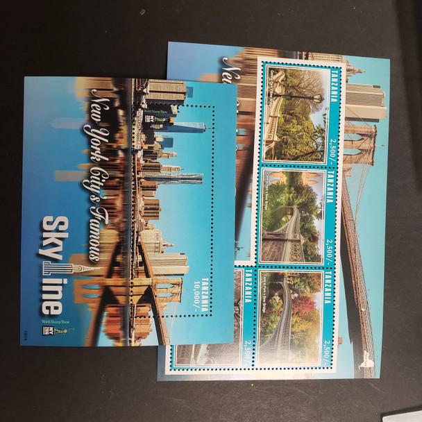 TANZANIA (2017) New York City Skyline Sheet and SS