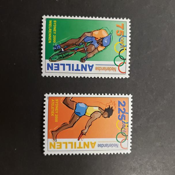 NETHERLANDS ANTILLES(2000  ) Semi Postal , Sport , Bicycle (2v) )