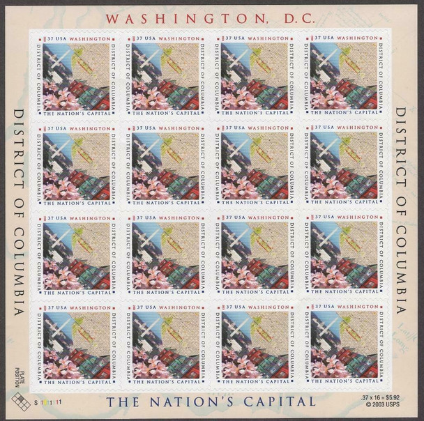 US (2004)- DISTRICT OF COLUMBIA SHEET #3813