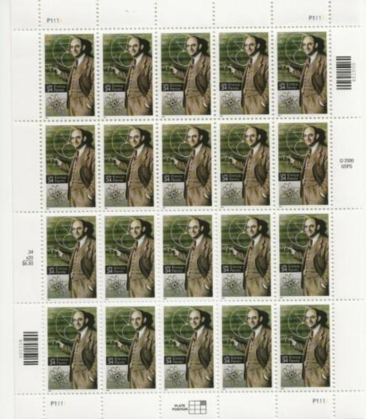 US (2001)- ENRICO FERMI, Physicist-Sheet of 20-- #3553