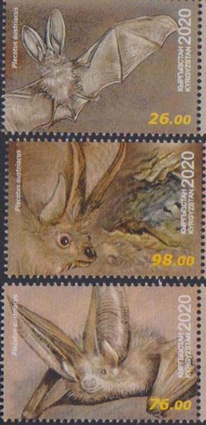 KYRGYZSTAN (2020)-Bats (3v & Sheet)