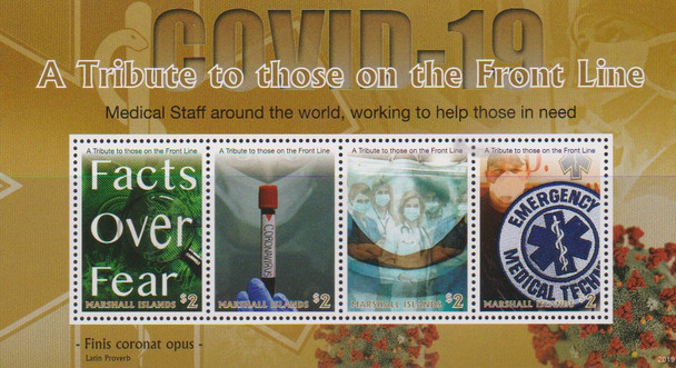 MARSHALL ISLANDS (2020)- COVID 19 Heroes Tribute Sheet of 4v
