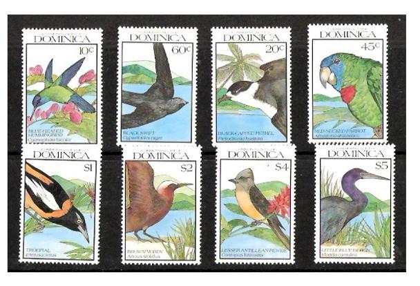 DOMINICA (1990)- BIRDS - SET OF 8