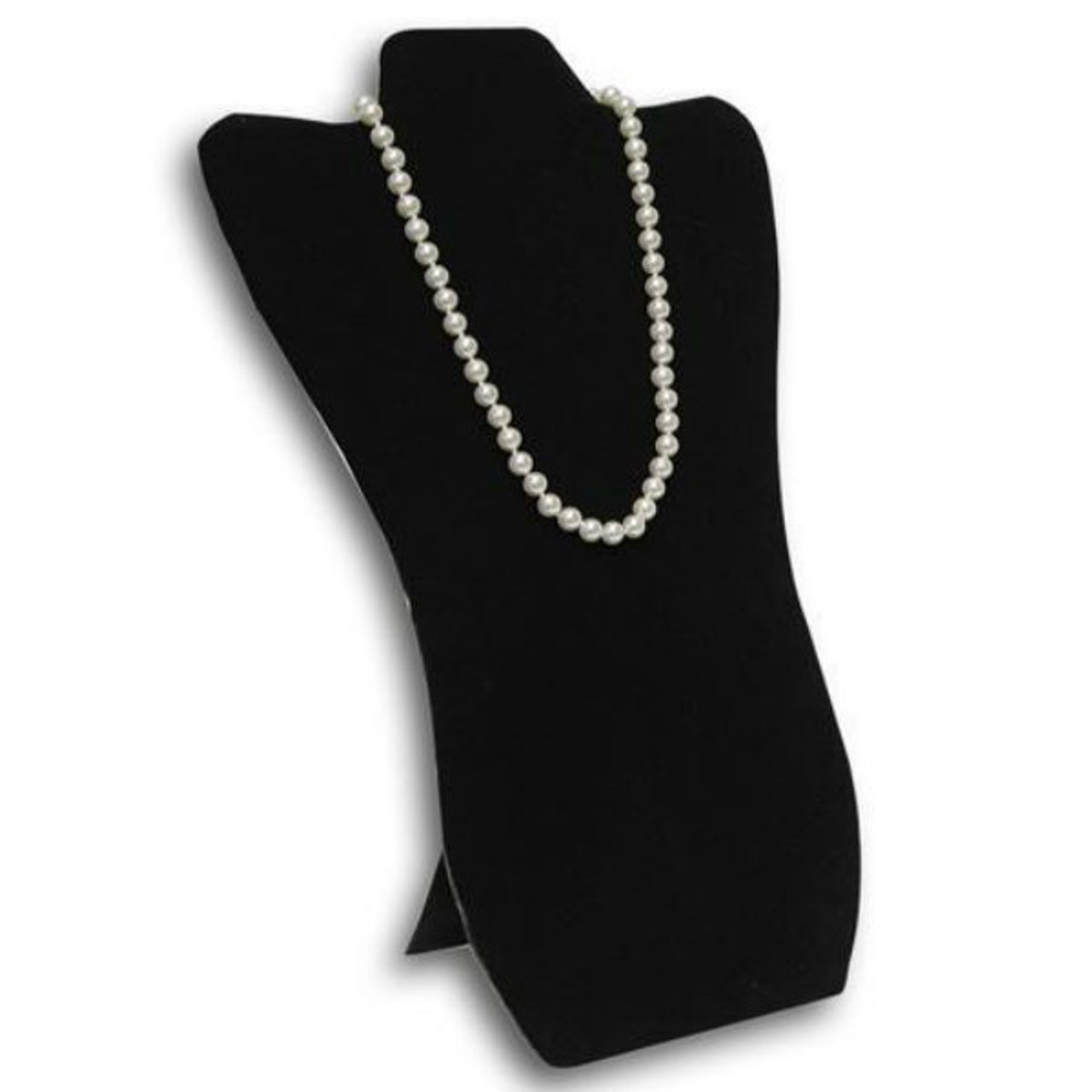 Jewellers Wholesale Supplies Jewellery Boxes & Supplies Black Velvet Jewellery Necklace Chain Display Bust Jewellery & Watches