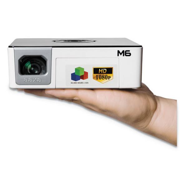 M6 Led Pico Projector, 1200 Lumens, 1920 X 1080 Pixels
