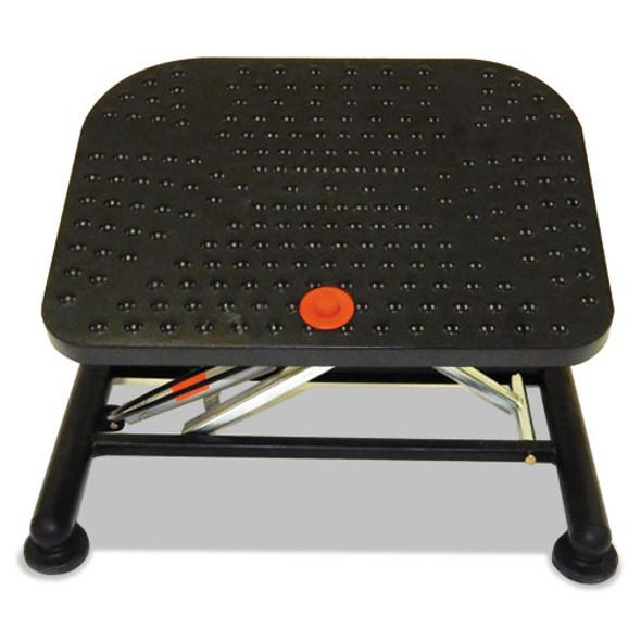Active Pneumatic Footrest, 20w X 14.5d X 17.25h, Black