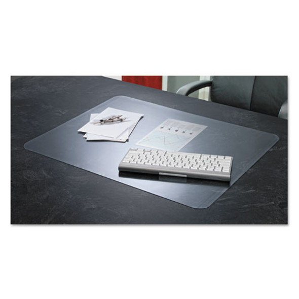 Krystalview Desk Pad With Antimicrobial Protection, 22 X 17, Matte Finish, Clear
