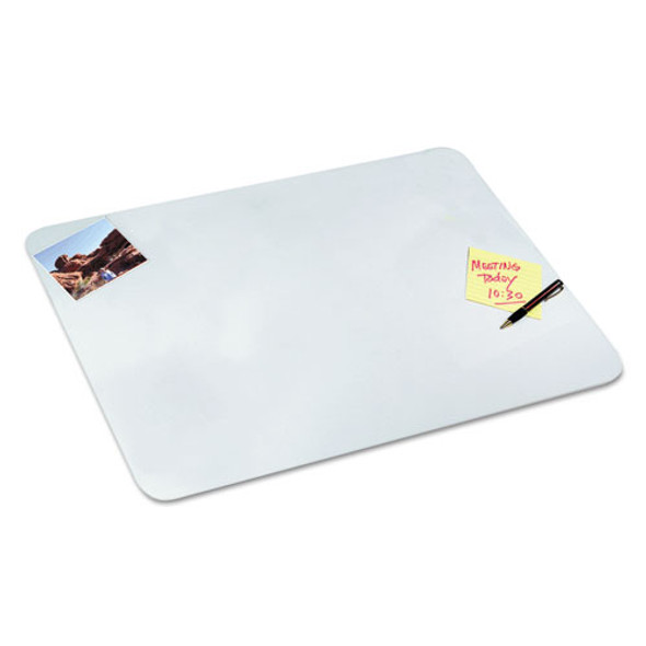 Clear Desk Pad With Antimicrobial Protection, 20 X 36, Clear Polyurethane