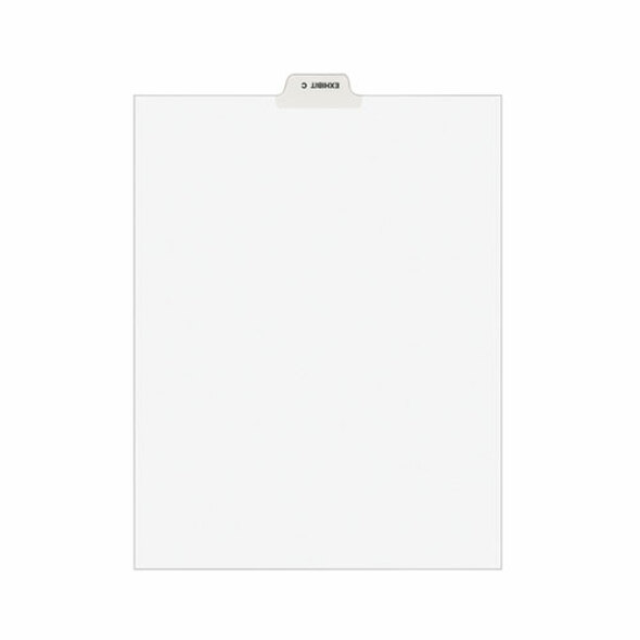 Avery-style Preprinted Legal Bottom Tab Divider, Exhibit C, Letter, White, 25/pk