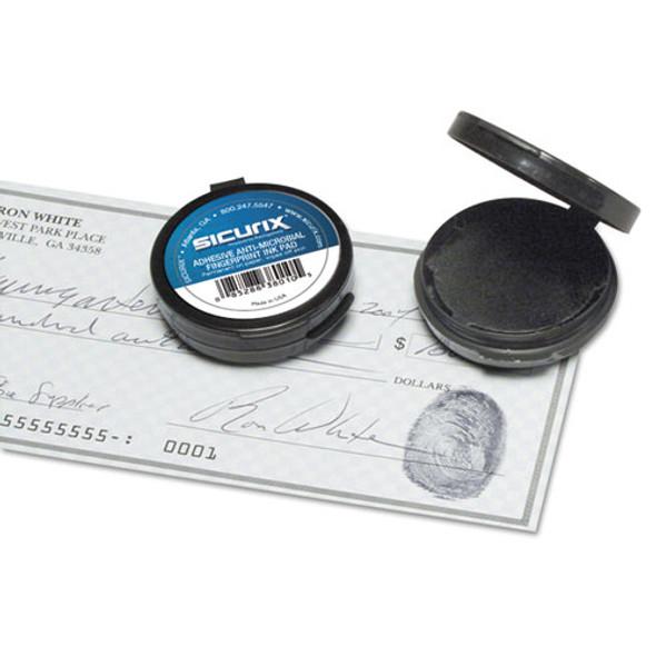 """Fingerprint Ink Pad, 1 1/2"""" Diameter, Black"""