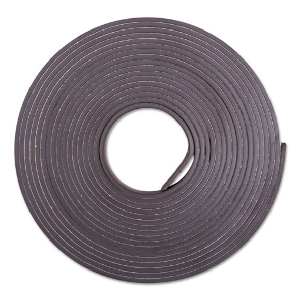 "Adhesive-backed Magnetic Tape, Black, 1/2"" X 10ft, Roll"