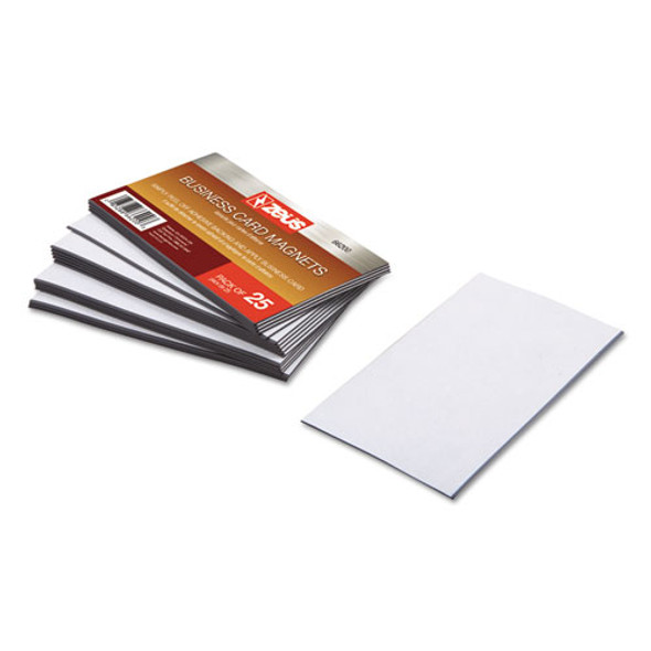 Business Card Magnets, 3 1/2 X 2, White, Adhesive Coated, 25/pack