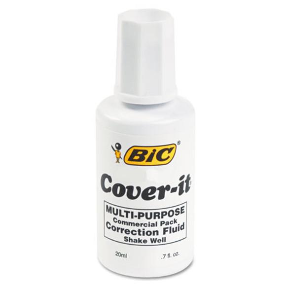 Cover-it Correction Fluid, 20 Ml Bottle, White