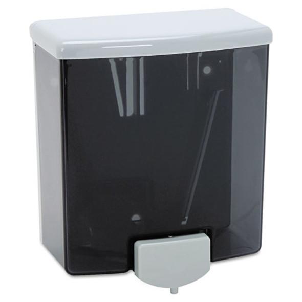 "Classicseries Surface-mounted Liquid Soap Dispenser, 40 Oz, 5.81"" X 3.31"" X 6.88"", Black/gray"