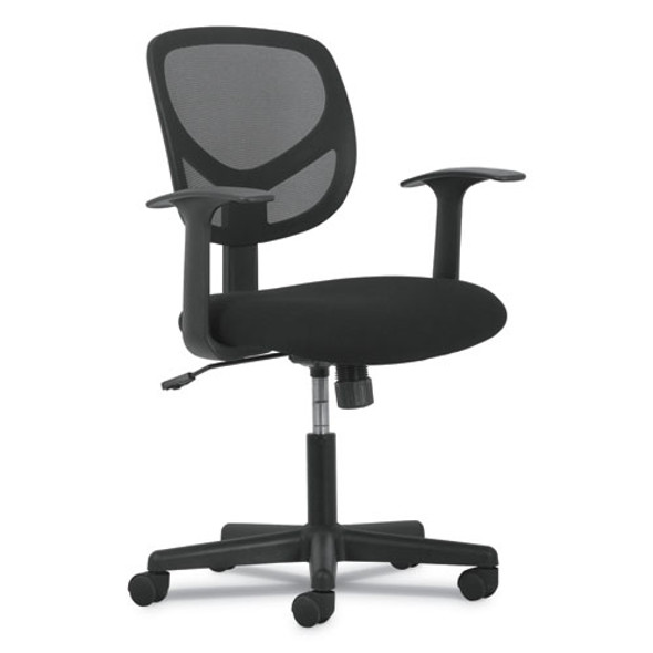 1-oh-two Mid-back Task Chairs, Supports Up To 250 Lbs., Black Seat/black Back, Black Base