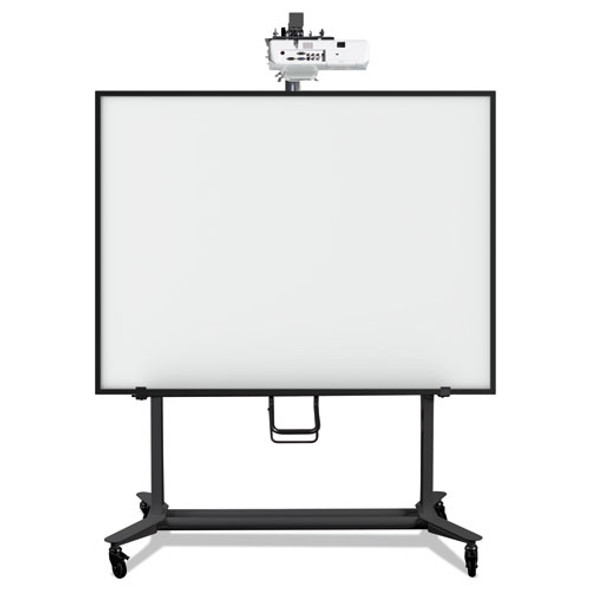 Interactive Board Mobile Stand With Projector Arm, 76w X 26d X 80h, Black