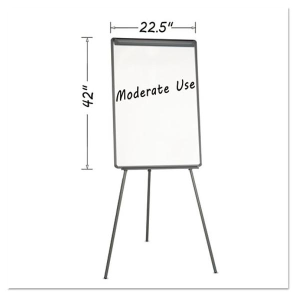Basic Tripod Melamine Presentation Easel, 22 1/2 X 42, White/black