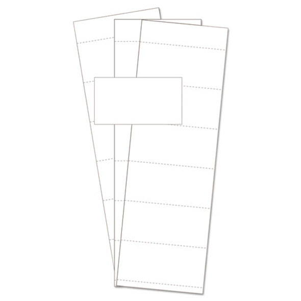 """Data Card Replacement, 3""""w X 1 3/4""""h, White, 500/pk"""